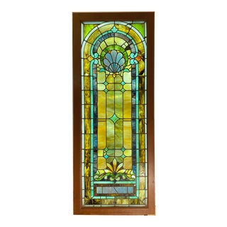 Victorian Stained Glass Window Panel For Sale