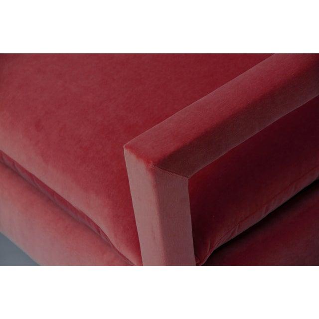 Art Deco 1970s Vintage Milo Baughman Style Parsons Sofa - a Pair For Sale - Image 3 of 4