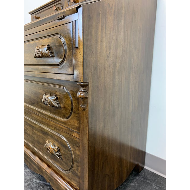 Davis Cabinet Lillian Russell Solid Walnut Victorian Slant Drop Front Desk 2 For Sale - Image 10 of 13
