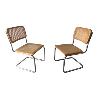 Mid-Century Modern Marcel Breuer Cesca Chairs - A Pair For Sale
