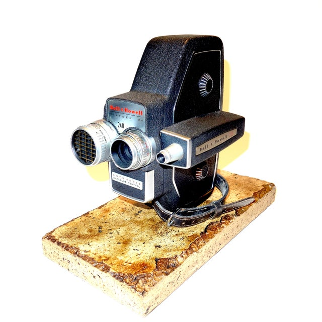 Bell & Howell 240 16mm Portable Motion Picture Camera, Circa 1957 For Sale - Image 4 of 9