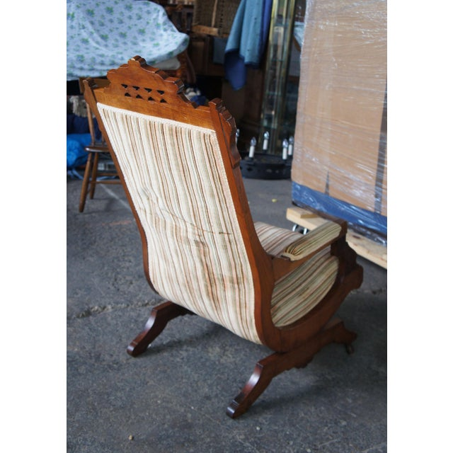 Late 19th Century Antique Buser's Champion Novelty Rocker Platform Rocking Chair For Sale - Image 4 of 13