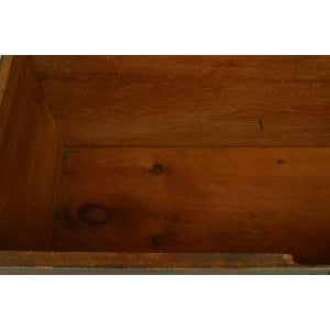 Americana American Country (18/19th Cent) blue painted pine blanket chest/floor trunk For Sale - Image 3 of 8