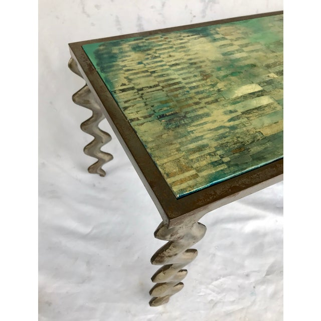 Abstract Studio Made Post Modernist Steel Cocktail Table For Sale - Image 3 of 13