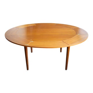 """Dyrlund Expandable Lotus """"Flip-Flap"""" Dining Table For Sale"""