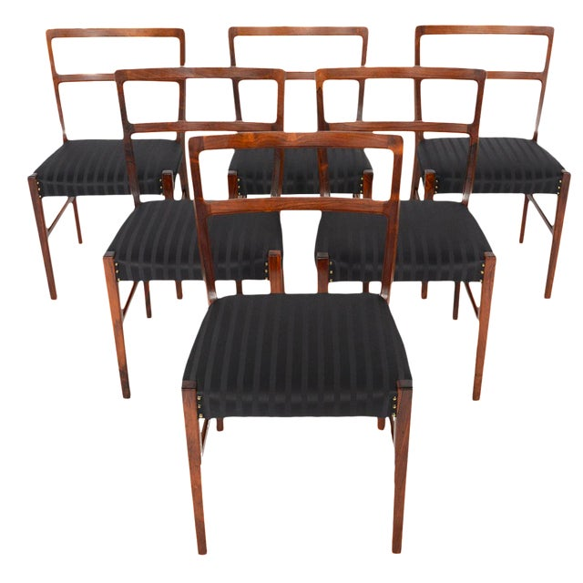 Harry Østergaar Rosewood Dining Chairs - Set of 6 - Image 1 of 10