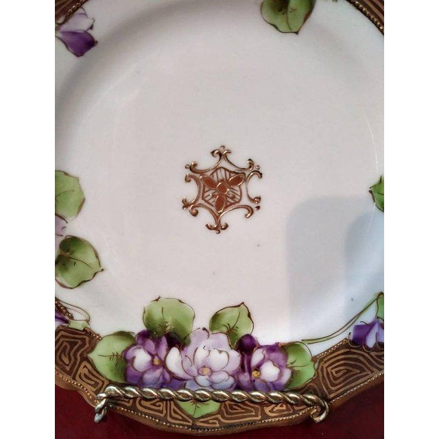 19th Century French Limoges Art Deco Plate For Sale - Image 4 of 10