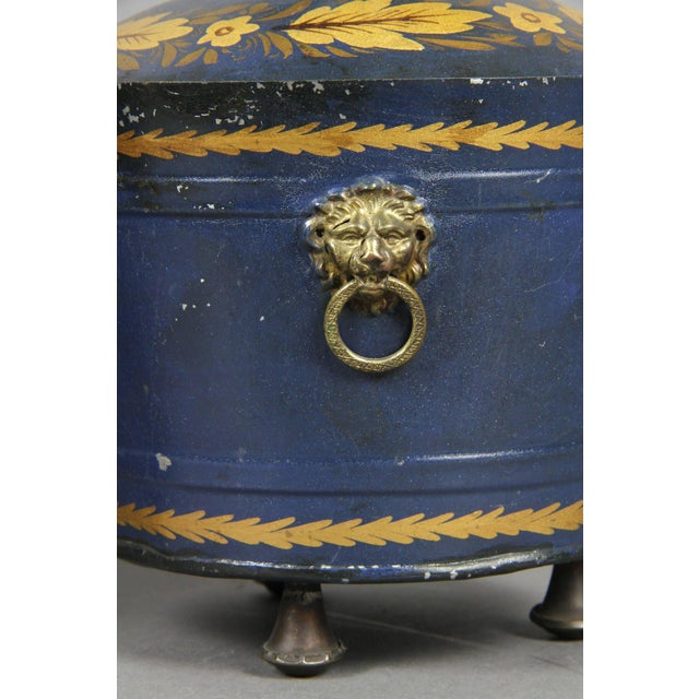 Pair of Swedish Tole Peinte Covered Barrels For Sale In Boston - Image 6 of 12