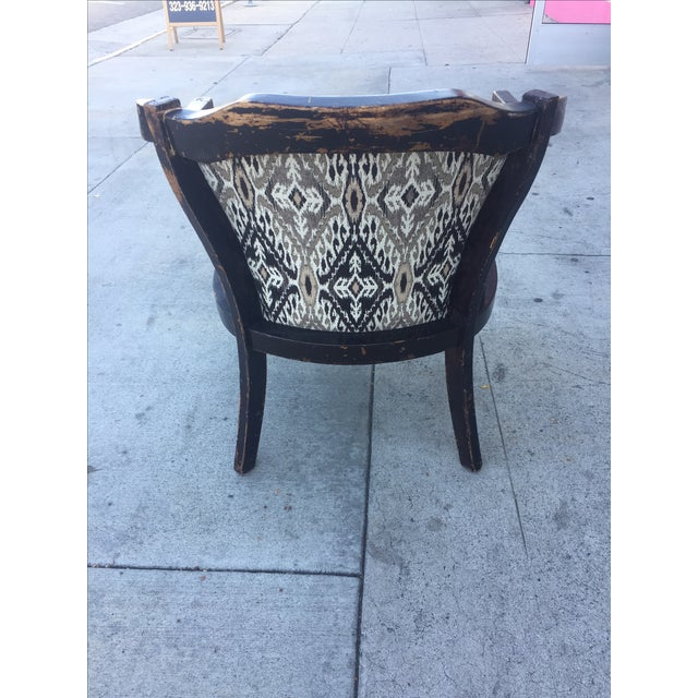 Distressed Wood Side Chair For Sale - Image 5 of 5
