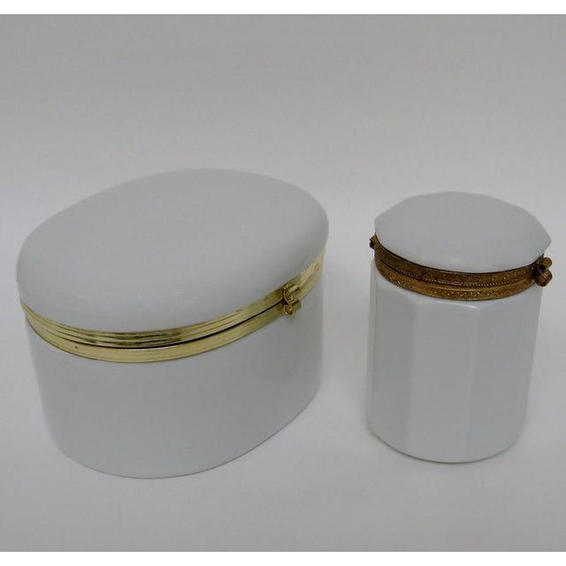 White Porcelain Canisters - A Pair For Sale - Image 4 of 6