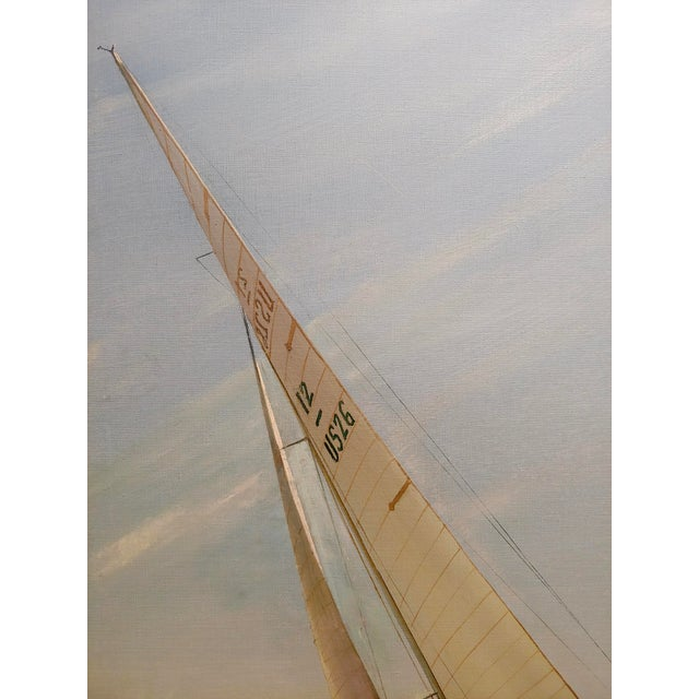 1970s Kipp Soldwedel -Victory 1974 -Sailing Yacht - Original Oil Painting For Sale - Image 5 of 10