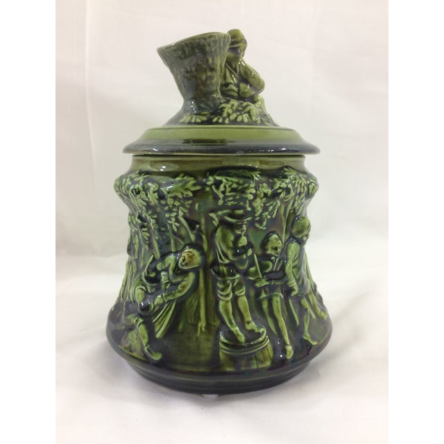 French 19th Century Tobacco Jar With Party Scene For Sale - Image 5 of 9
