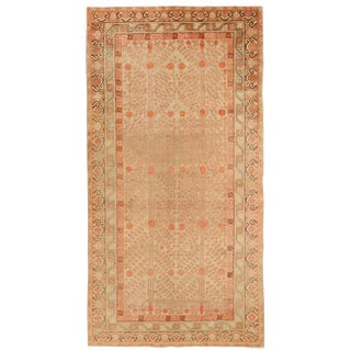 Early 20th Century Antique Central Asian Khotan Style Rug - 6′7″ × 12′9″ For Sale