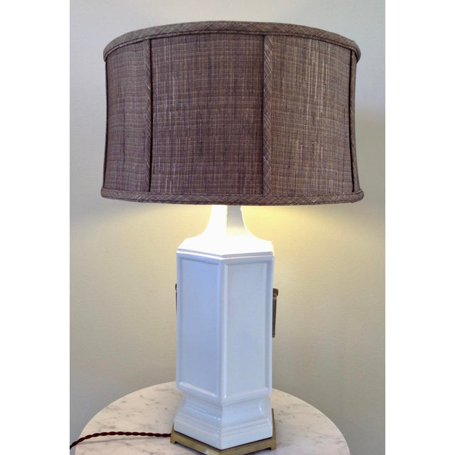 Asian Inspired Mid-Century Table Lamp - Image 3 of 9