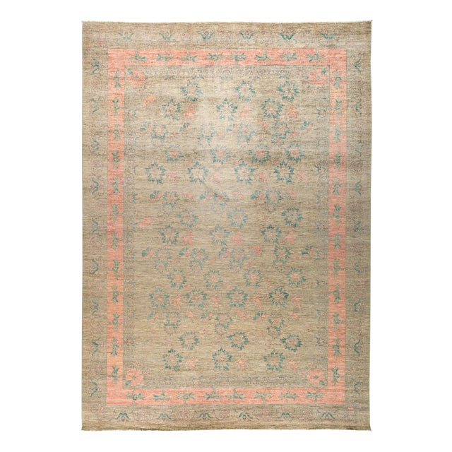 """New Hand Knotted Area Rug - 10'1"""" x 13'10"""" - Image 1 of 3"""