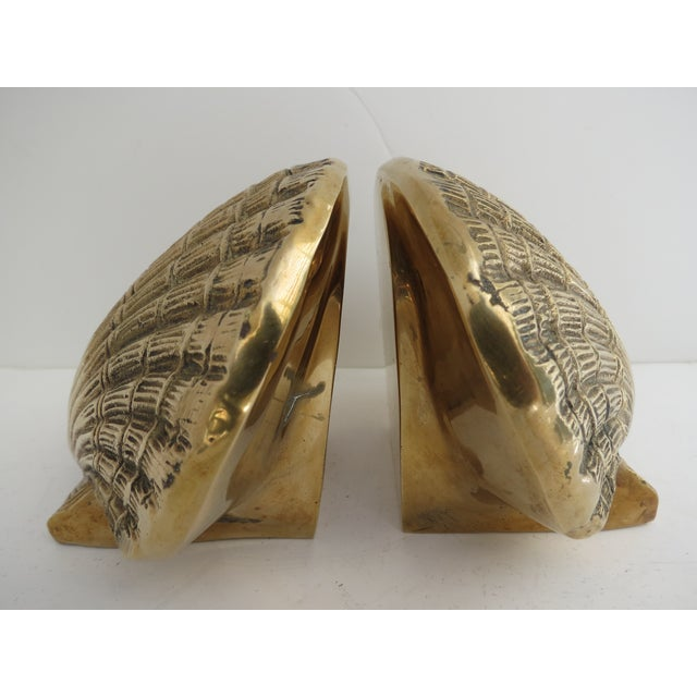 Brass Shell Bookends - Image 3 of 7