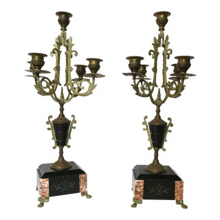 Antique French Candelabra Set - a Pair For Sale