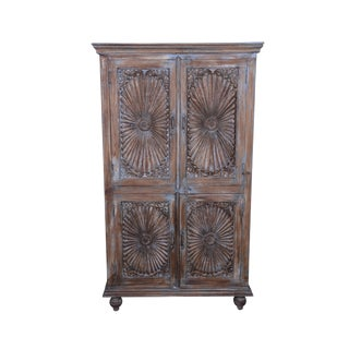 Rustic Wood Theron Armoire