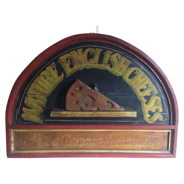 Vintage Cheese Sign - Image 1 of 5