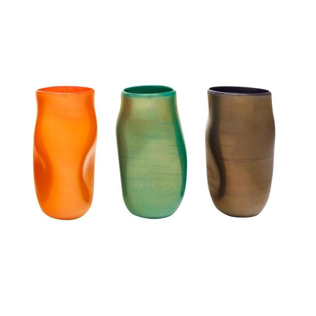 """Murano Glass """"Cartoccio"""" Vases For Sale"""