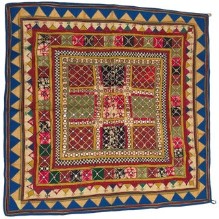 Embroidered Ceremonial Chakla Cloth Hanging Textile For Sale