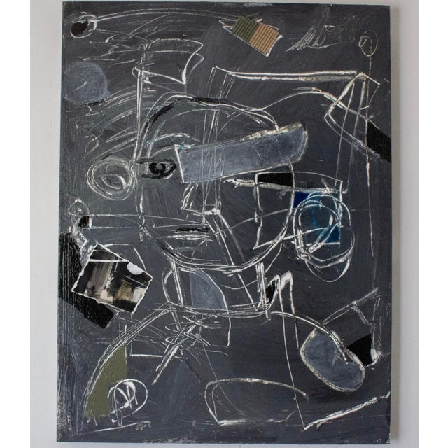 "Slate Gray ""Child's Play"" Large-Scale Contemporary Painting by Joe Turner For Sale - Image 8 of 8"