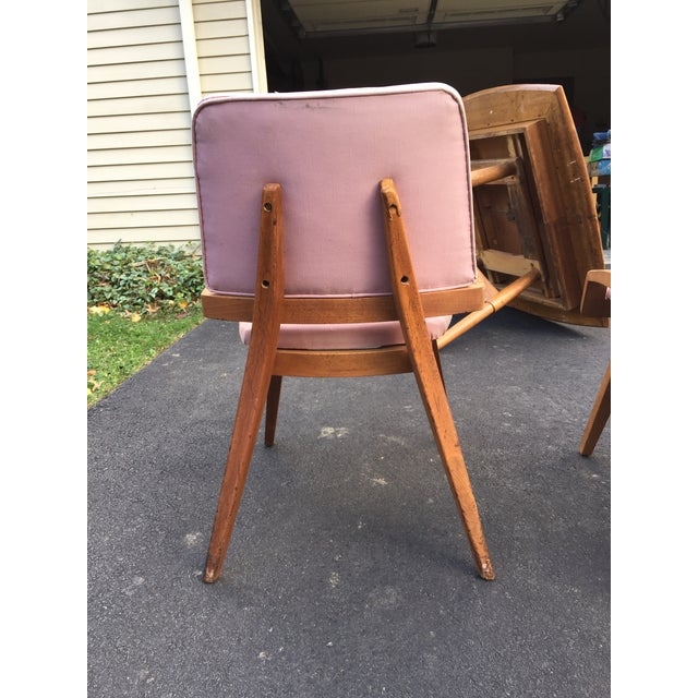 John Keal by Brown Saltzman Dining Room Chairs - Set of 4 For Sale - Image 9 of 9