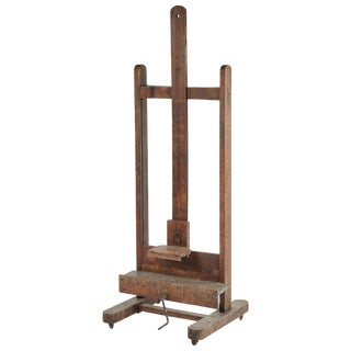 Large Wooden Artist's Easel From Late 19th Century France For Sale