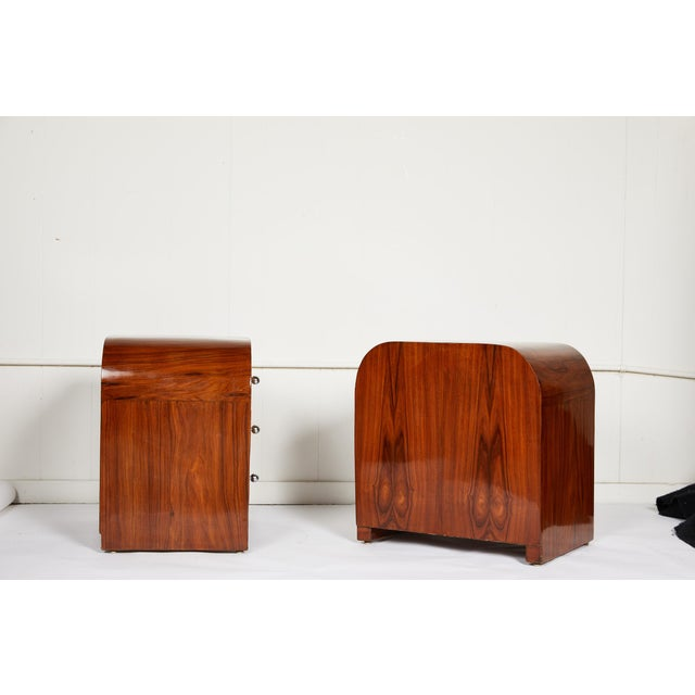 Art Deco Pair of Midcentury Italian Side Tables For Sale - Image 3 of 10