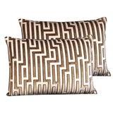 Image of Kravet Couture Cut Velvet Pillows - Set of 2 For Sale