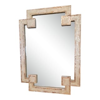 Surya Banks Mirror With Mother of Pearl Frame in Greek Key Design