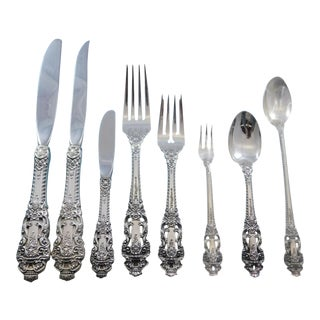 Crown Baroque by Gorham Sterling Silver Flatware Set 12 Service 107pc Dinner New For Sale