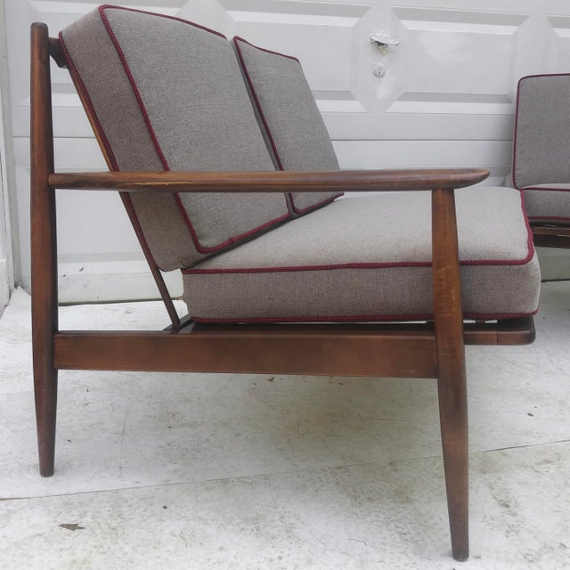 Mid-Century Modern Two Piece Sofa by Baumritter For Sale - Image 9 of 13