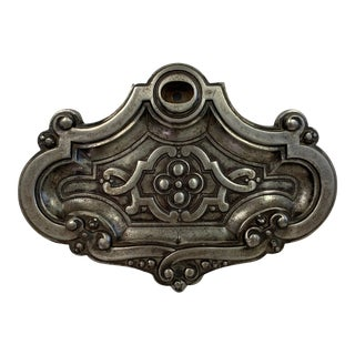 Antique Silver Wall Plaque For Sale