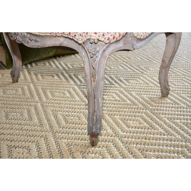 French Upholstered Bergere Chairs- A Pair - Image 10 of 10