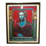 Image of Peter Max - Mona Lisa Serigraph For Sale