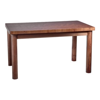 Swedish Pine Dining Table and Bench, 1960s For Sale