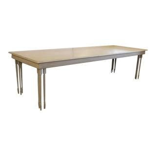 Long Custom-Made Wood Table For Sale