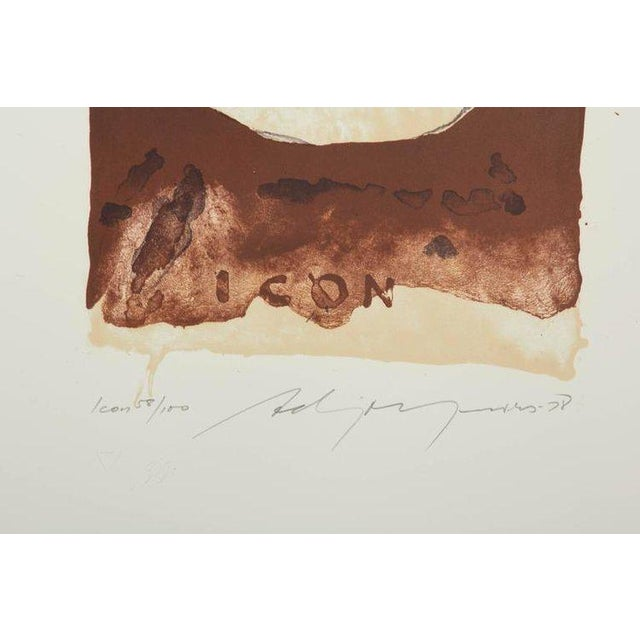 "Adja Yunkers ""composition Xii"" Lithograph, Usa, 1978 - Image 2 of 3"