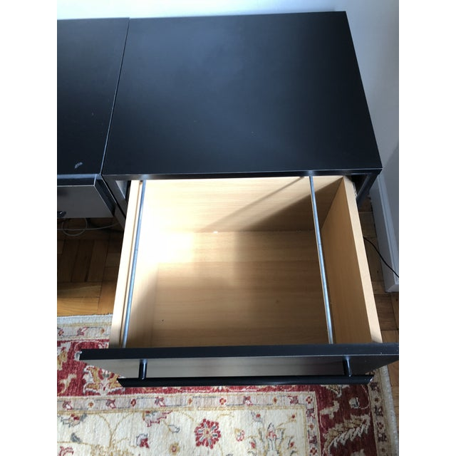 Office Modular Filing Cabinet Desk & Chair For Sale - Image 9 of 13