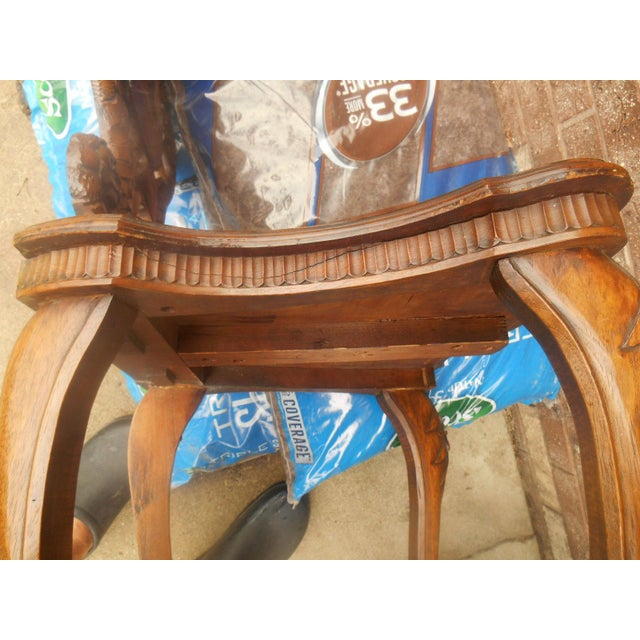 Antique Hand Carved Accent Chair - Image 8 of 8
