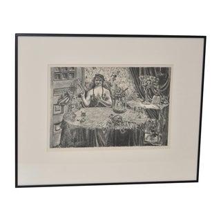 Malvin Marr Albright 1935 Lithograph