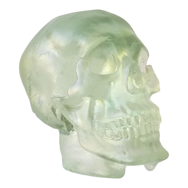 Paul Marioni Sand-Casted Glass Skull For Sale