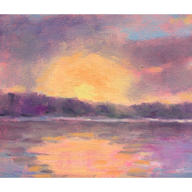 """""""Lake Carey Sunrise"""" is a bright, softly rendered image of the sunshine over the lake. It represents the energy of the..."""