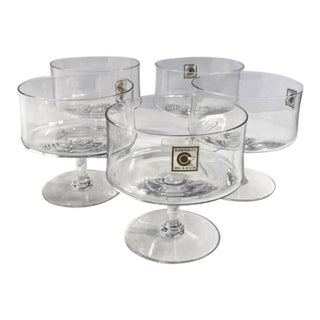 Bloomingdales Stemmed Crystal Dishes - Set of 5 For Sale
