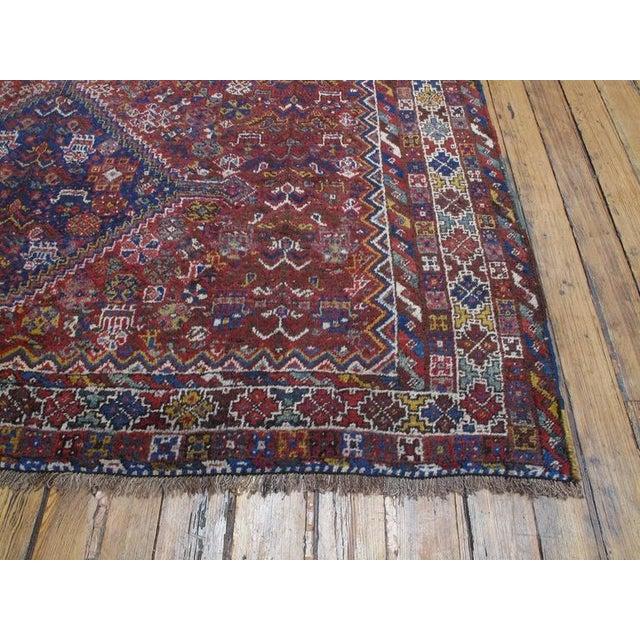 "Primitive Shiraz ""Birds"" Carpet For Sale - Image 3 of 10"