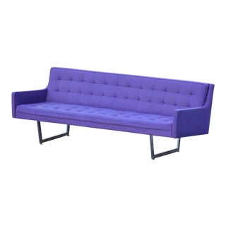 Modern Chrome & Purple Sofa by Patrician For Sale