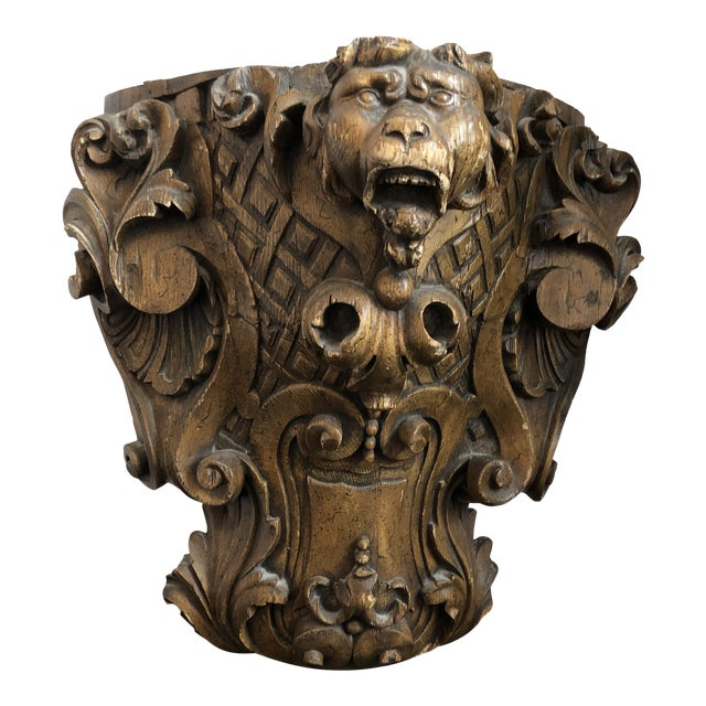 19th Century Carved Architectural Wall Shelf For Sale