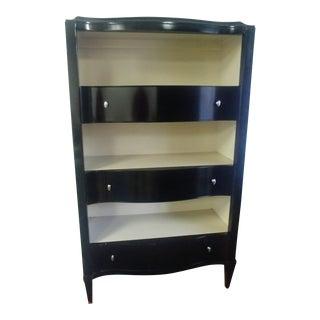 Thomasville Furniture Spellbound Black & White Tuxedo Bookcase For Sale