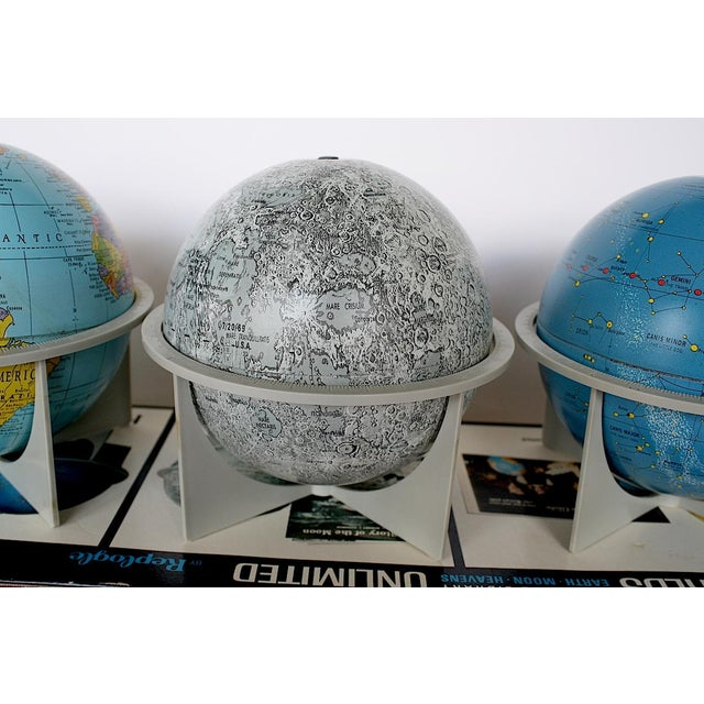 Vintage Moon Celestial Earth Globes- Set of 3 For Sale - Image 10 of 11